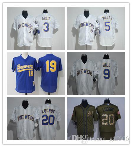 3cccf0125 2019 Custom Men S Women Youth Majestic Milwaukee Brewers Jersey  20  Jonathan Lucroy 19 Robin Yount Blue Grey White Baseball Jerseys From  Gzf606