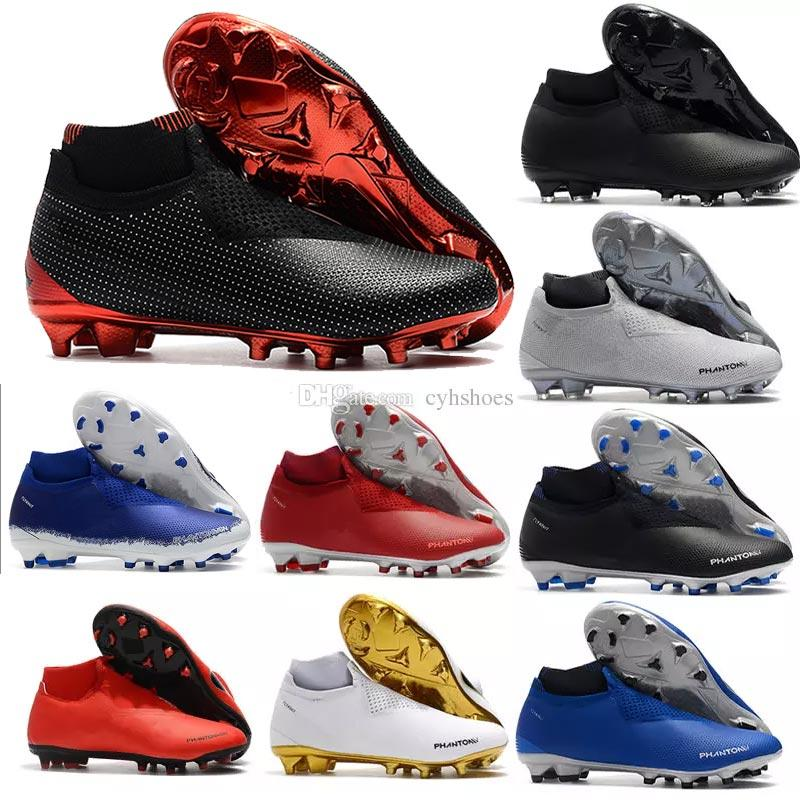 2018 New Arrival Phantom Vision Elite Soccer Shoes For Chaussures Super Multicolor Men Neymar Tf Vsn Df Ag Pro Football Boot Size 39 46