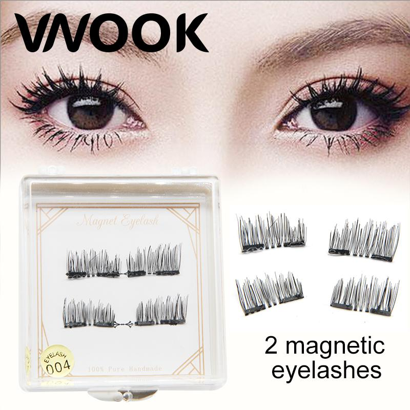 b866c87c948 Vnook Brand Make Up 3D Double Magnetic Fake Eyelashes Handmade False Eye  Lashes Long Lasting Eyelash Extension Korean Make Up Eyelash Growth Eyelash  Tinting ...