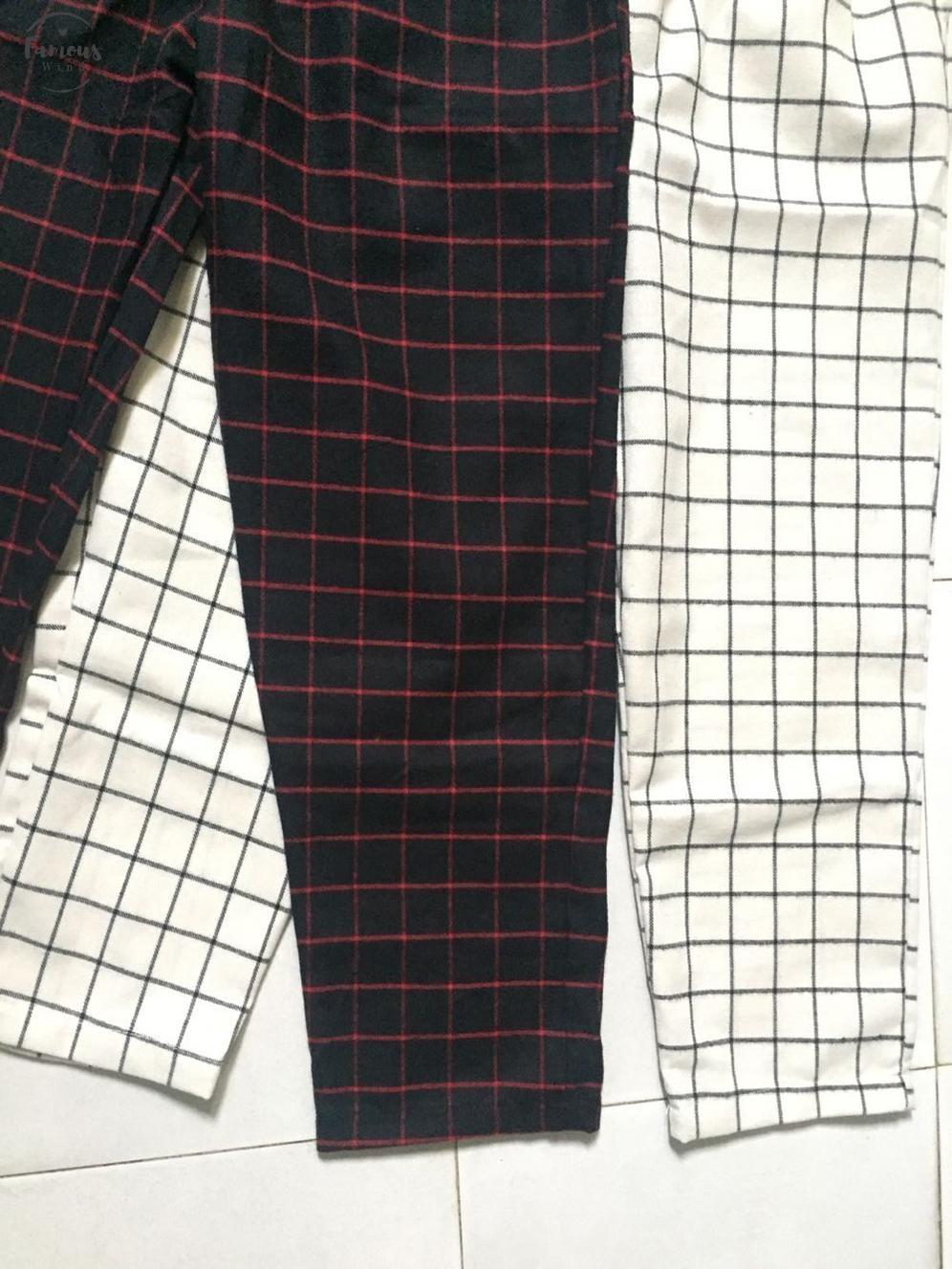 Color Korean Block Slim Stripe Plaid Trouser Women Cargo Thin Sweatpant Pant Summer Jogger Drawstring Harem Streetwear Harajuku