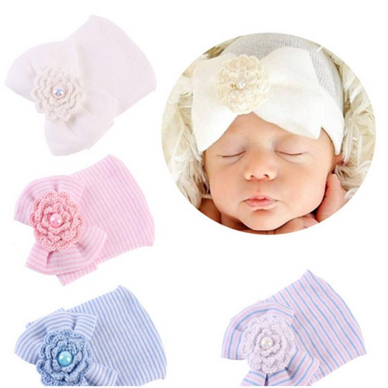 16e239d451b Crochet Cute Newborn Cap Baby Girls Boys Infant Girl Toddler Comfy ...