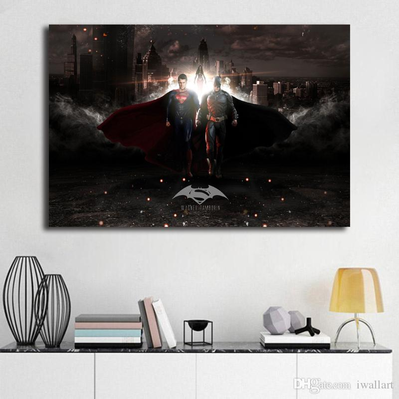 Batman Vs Superman Superhero Marvel Movie Wallpaper Art Canvas Poster Painting Wall Picture Print For Home For Living Bedroom Decoration