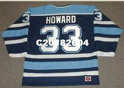 detailed look 65151 95fe4 Men #33 JIMMY HOWARD Maine Black Bears 2004 RETRO Hockey Jersey or custom  any name or number retro Jersey