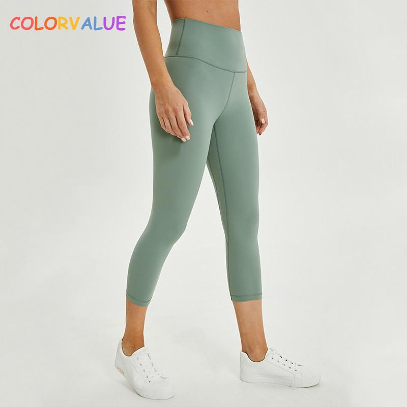 b38307a3d7a5c value 2.0versions Naked Feels Plain Athletic Fitness Cpari Pants Women Soft  Nylon Gym Yoga Sport Cropped Trousers Size2 10 Q190525 From Yiwang07, ...