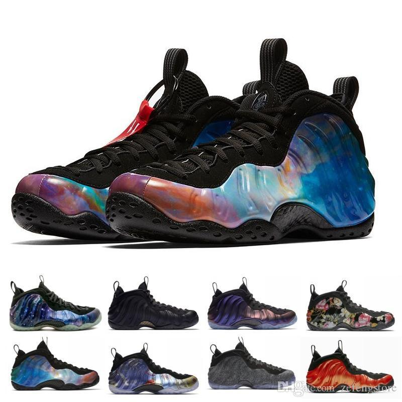 super popular 7ca9b 90c99 Penny Hardaway Basketball Shoes Alternate Galaxy Eggplant Foams Mens Sports  Sneakers One Night Maroon Gum Trainers Air Chaussures dtmall