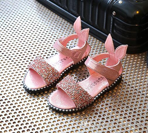 458a7dedb Hot Sale Baby Girl Sandals Fashion Bling Shiny Rhinestone Girls ...