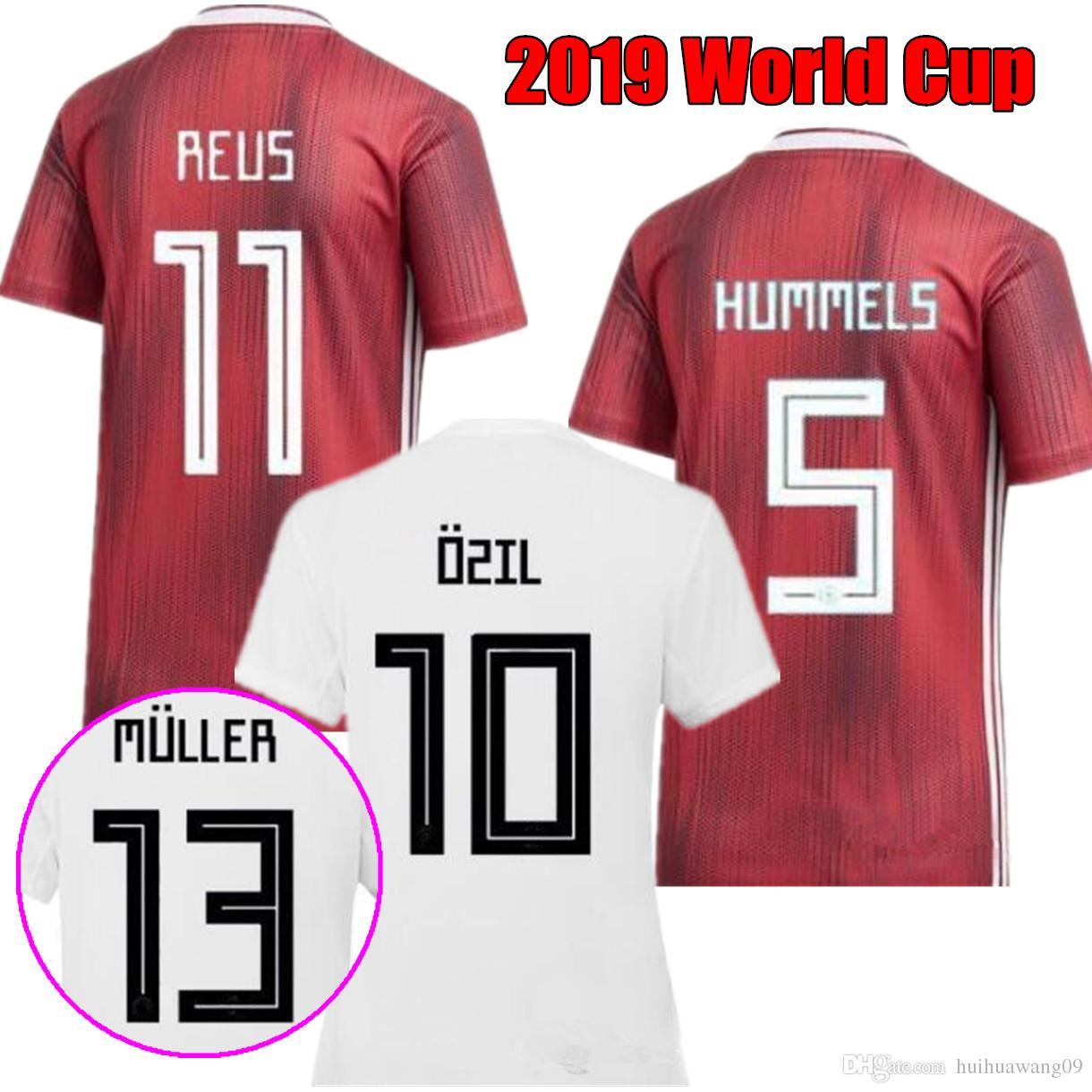 76efe55b760 World Cup 2019 Women Germany Home Away Soccer Jersey DALLMANN POPP ...