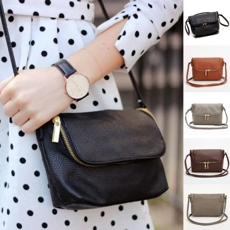 Ladies Shoulder Bags Cute Zipper Small Female Crossbody Women Bag Long Shoulder Strap Messager Bags Soft PU Leather Handbags
