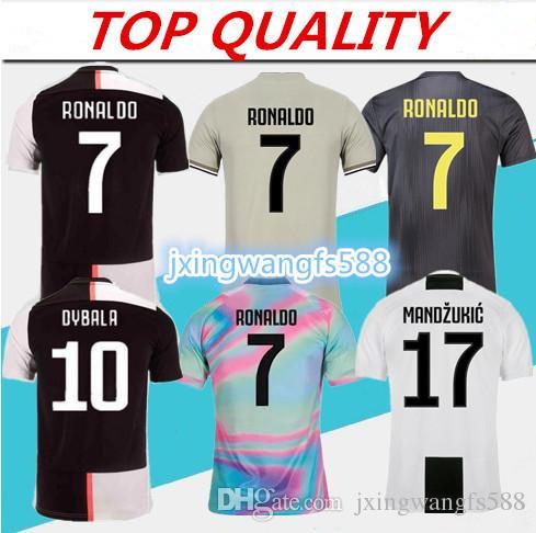 finest selection bfab4 cb55a 2019 2020 Juventus Soccer Jersey Home shirts 18/19/20 DYBALA MANDZUKIC  Camisetas Futbol Camisas Maillot PJANIC RONALDO Football Shirt