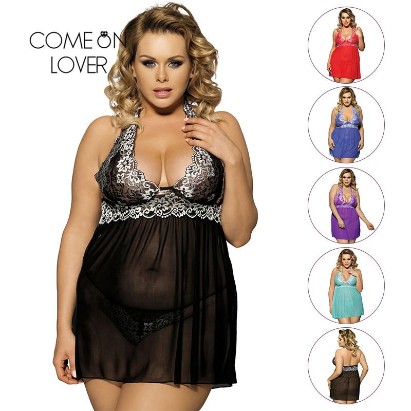 0d5dbcebec7 Comeonlover Sexy Clothes Women Night Sex Babydoll Porn Red Lace See Through  Halter Big Size Sex Lingerie Women Underwear RI80003 D18120802 Designer  Pyjamas ...