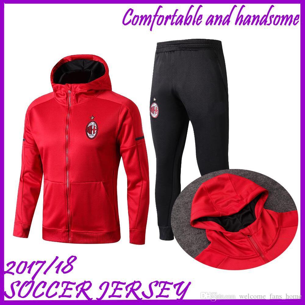 2b373a09f1e 2018 2019 AC Milan Soccer Jacket Training Suit 18 19 HIGUAIN ...