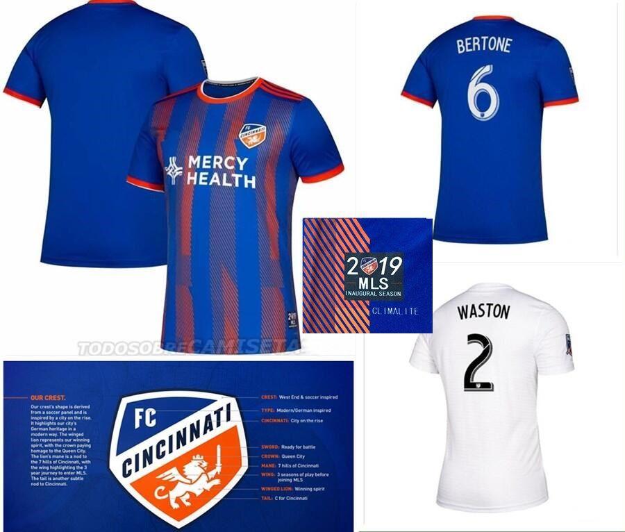 wholesale dealer 6f502 2f14c S-XXL 2019 2020 MLS Men FC Cincinnati Soccer Jerseys Football Shirt 19/20  SAIEF GARZA WASTON BERTONE ADI LAMAH A.CRUZ Football Shirts
