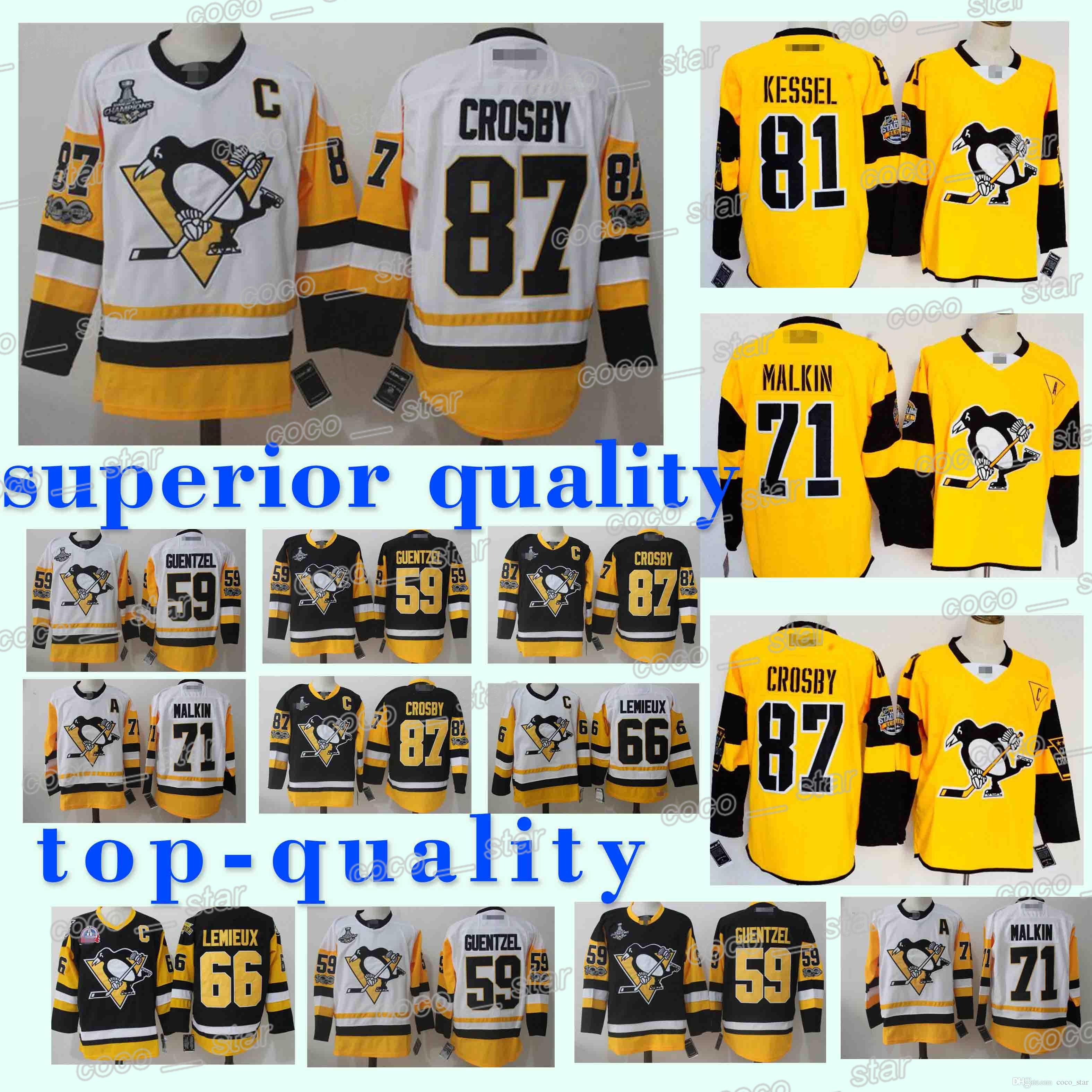 sports shoes 8fe41 93f4a 87 Sidney Crosby 58 Practice Kris Letang jerseys 71 Evgeni Malkin 81 Phil  Kessel 18/19 new Hockey Jersey