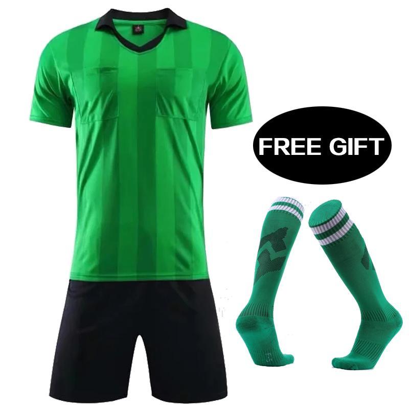 2019 2019 New Mens A+++ Soccer Tracksuits 2018 Referee Soccer Jerseys Maillot  De Foot Training Football Shirt Referee Judge Uniform Soccer Set From ... ba1c0e86bb473