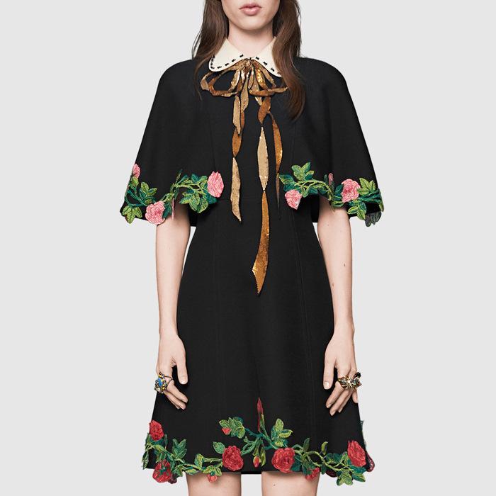 7306be15b7b1dd Acheter 2019 Nouvelle Mode Femmes Imprimé Floral Manches Courtes Noir Boho  Robes De Soirée Robe Longue Maxi Designer Cape Cape Robe Taille S L De  $55.97 Du ...