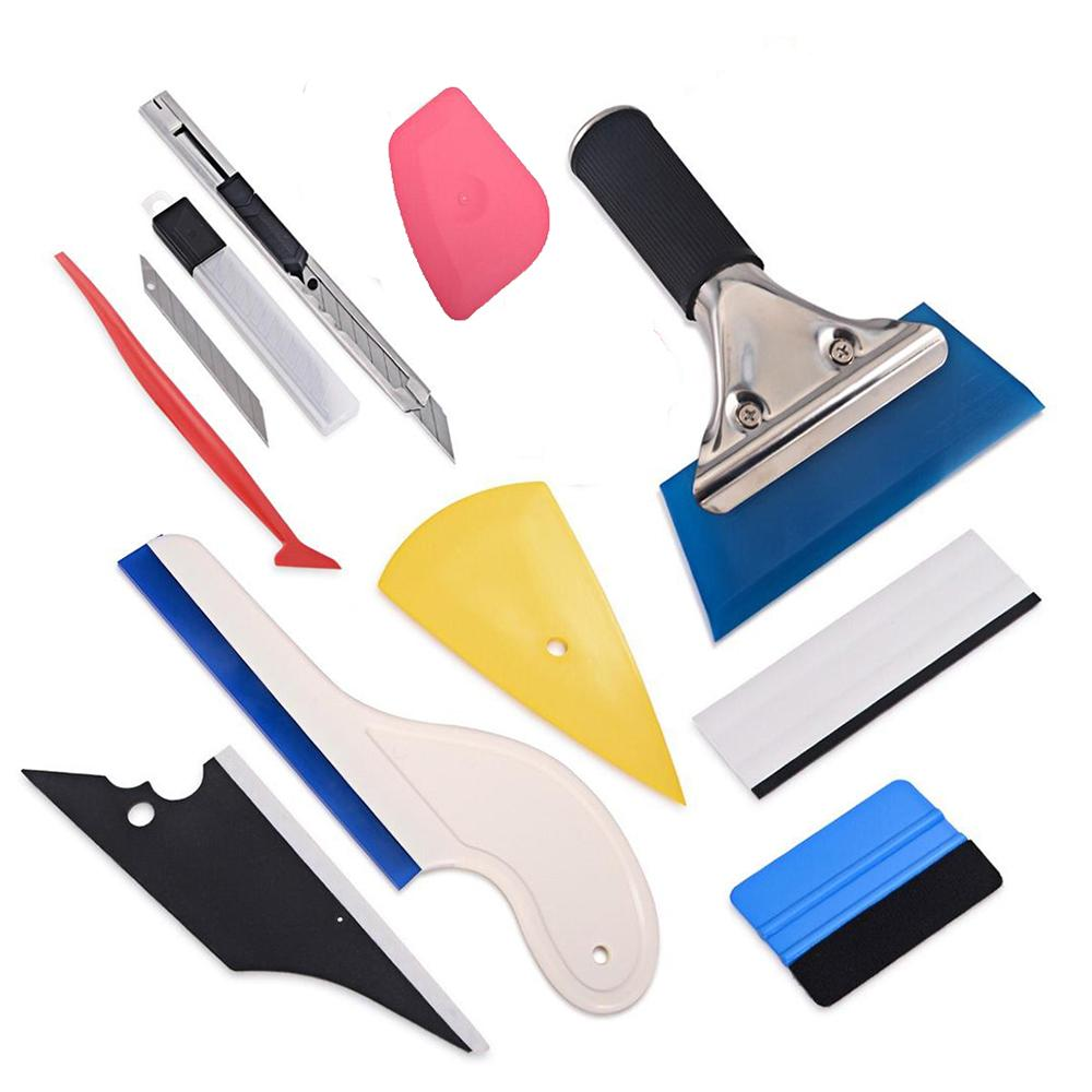 FOSHIO Car Stickers Tool Set Vinyl Wrap Squeegee Car Accessories Carbon Fiber Film Window Foil Tint Tool Cut Knife Water Blade