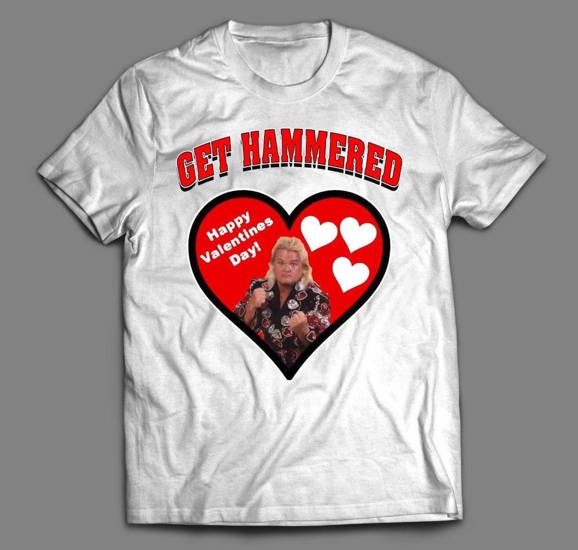 Greg The Hammer Valentine Get Hammered Valentines Day T Shirt Full