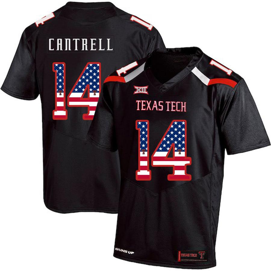 premium selection f15bd 57e31 Mens Custom Dylan Cantrell Football Jersey Texas Tech USA Flag Fashion  Print High Quality Stitched College American Football Jerseys