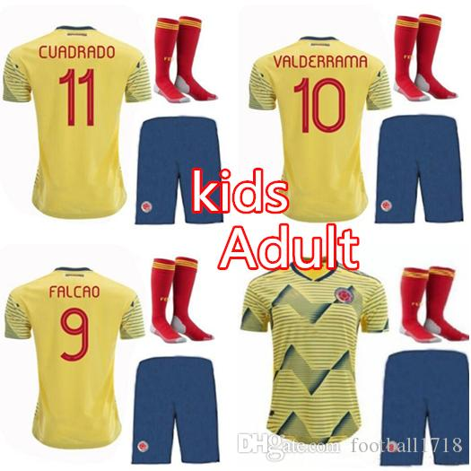 77e936fc9 2019 Man Kit 2019 Copa America Colombia Home Soccer Jersey CUADRADO James  Falcao 19 20 Colombia Kids Kits Sanchez Child SETS Football Shirts From ...