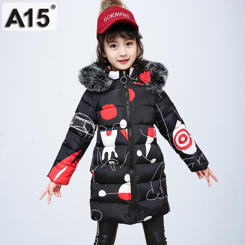 d4e010b61 A15 2019 Girls Winter Coats Hooded With Fur Toddler Clothes Park Size 4 6 8  Children Jackets For Girls Kids Outerwear 10 12 Year Kids Designer Coats  Boys ...