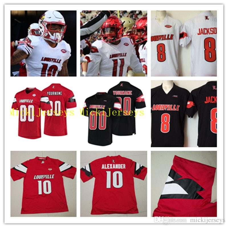 Custom NCAA Louisville Cardinals Football Jersey Jaire Alexander Trevon  Young DeVante Parker Gerod Holliman Chris Redman Louisville Jersey UK 2019  From ... f17cf5c3a