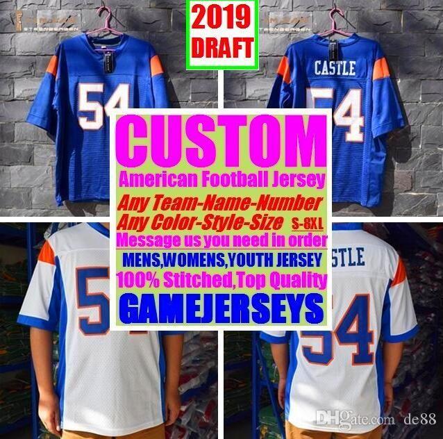 e59823ec 2019 Custom American Football Jerseys Tennessee Denver College Authentic  Retro Rugby Soccer Baseball Basketball Hockey Jersey 4xl 6xl 8xl Kids From  Vip77, ...