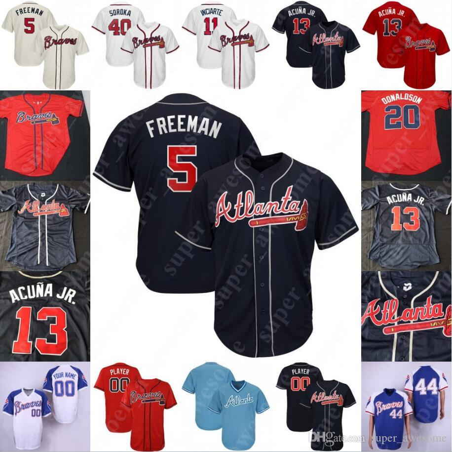 official photos 390b9 81032 Atlanta Dansby Swanson Braves Jersey Charlie Culberson Ender Inciarte Josh  Donaldson Tyler Flowers Mike Foltynewicz Jacob Webb Dale Murphy