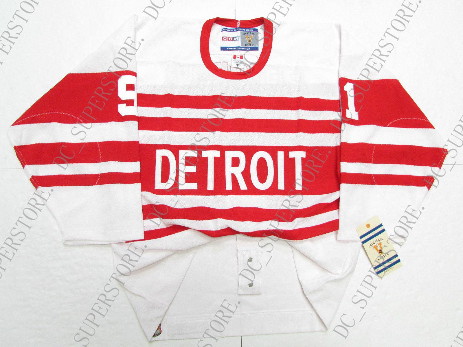 d2329d07458 2019 Cheap Custom SERGEI FEDOROV DETROIT RED WINGS 1992 VINTAGE CCM JERSEY  Stitch Add Any Number Any Name Mens Hockey Jersey XS 5XL From  Dc superstore