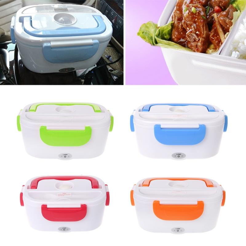 9a77b7b5db16 Hot New 1 Set Auto Car DC 12V Electric Heating Lunch Boxes Bento Box Meal  Heater Lunchbox Rice Dinner 4 Colors
