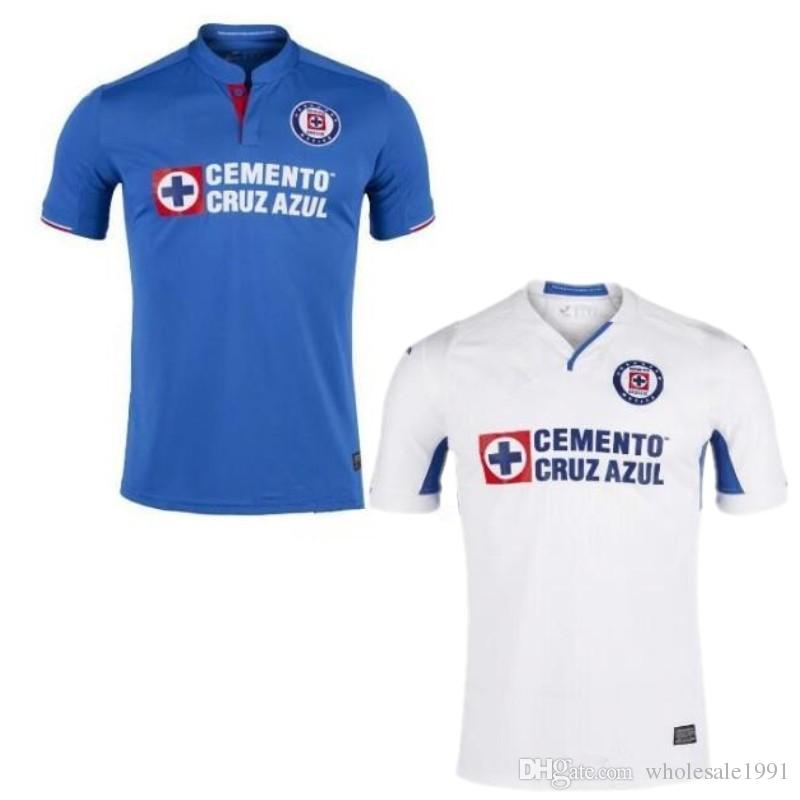 410fe96e17a 2019 2019 Cruz Azul Futbol Club Soccer Jersey Cruz Azul Futbol Home Away  Soccer Uniform 19 20 Adult Mexico Club Blue White Football Shirts From ...