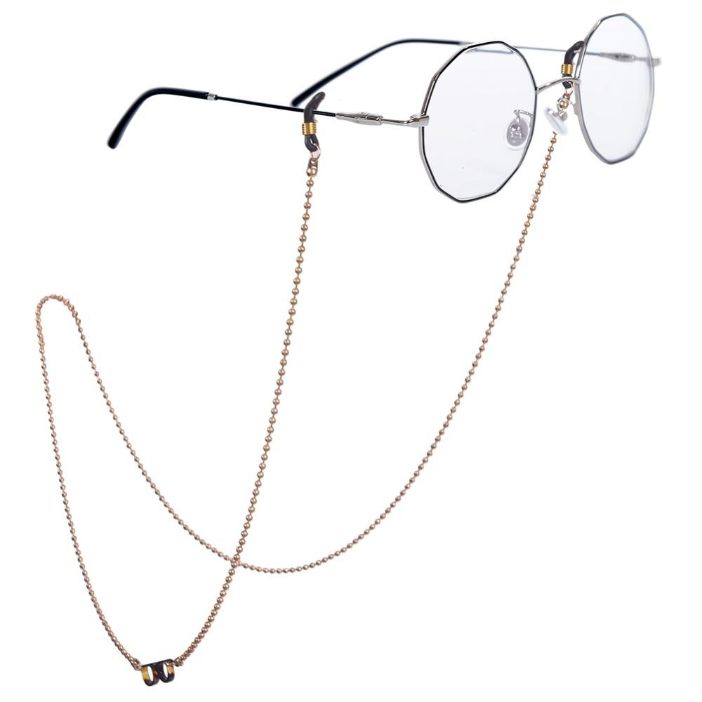ab7f726642 Compre 2018 Nueva Llegada De La Venta De Las Mujeres Gafas De Sol De Acero  Inoxidable Cadena Cuerda Gafas Gafas Cadena Pequeño Cuello Colgando Anti  Perdido ...