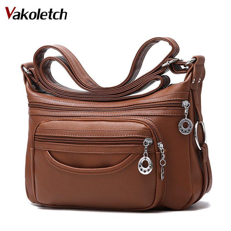 da74465256f 2018 Merk Lederen Schoudertassen Draagtas Crossbody Voor Vrouwen Luxe  Vrouwen Messenger Tassen Designer Vrouw Handtas KL283 Best Handbags Cute  Handbags From ...