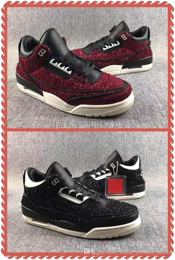6fd4d862d3b6 2019 3 Men Basketball Shoes Vogue X 3 AWOK University Red Black Sail Mens  Sports Sneakers BQ31950 001 Designer Outdoor Walking Trainer From ...