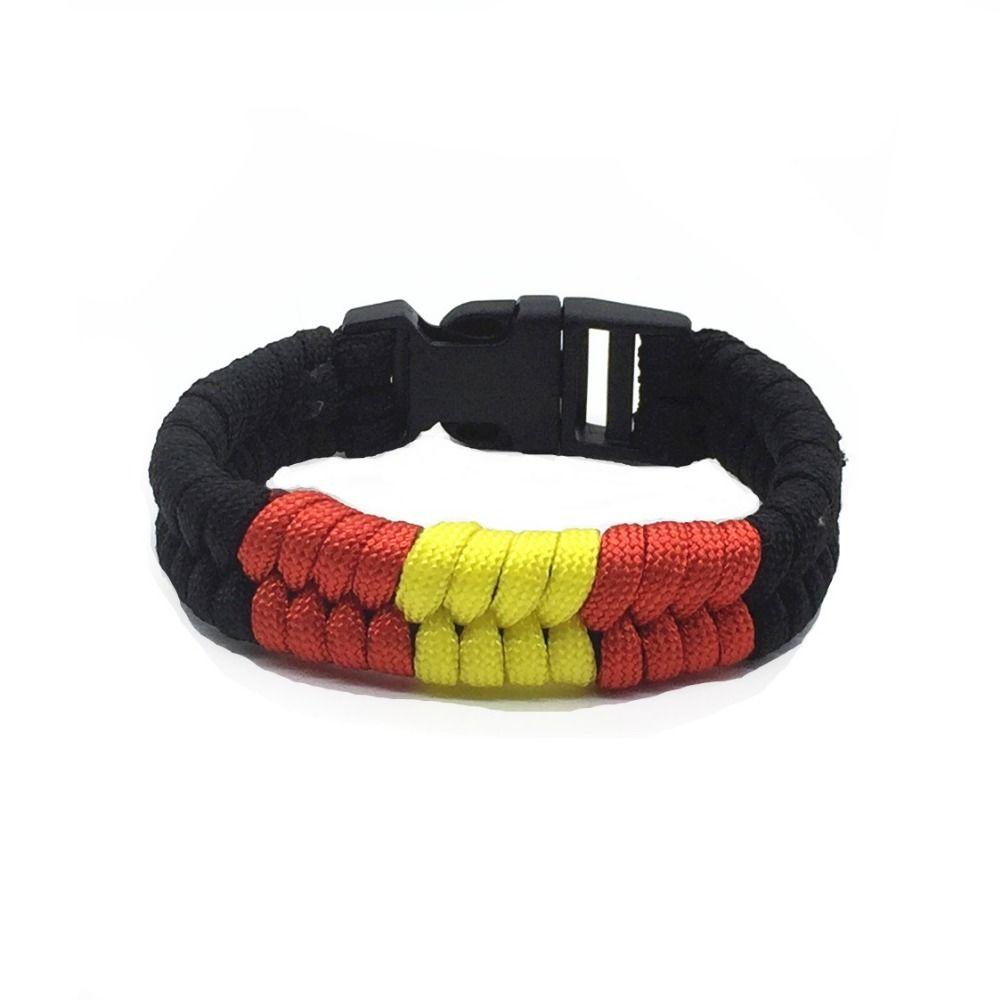Bandera de Espaa Flag of Spain jiu-jitsu fishtail weave fashion belt rank  paracord bracelet