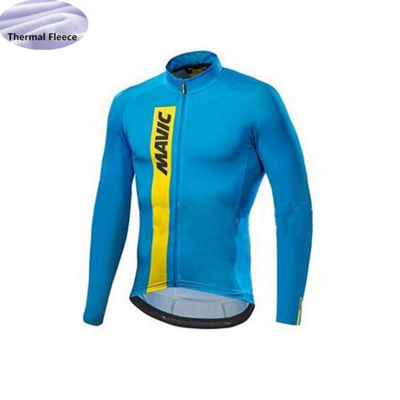 Cycling Jersey Men 2018 Pro Team Winter Thermal Fleece Long Sleeve ... cf974d2c6