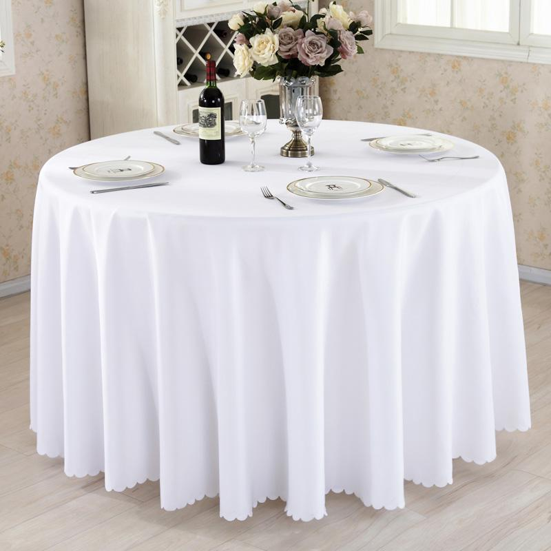 Stupendous Round Tablecloth Camping Solid Color Table Cloth White Table Linen Hotel Party Wedding Tablecloth Dining And Coffee Cover Download Free Architecture Designs Scobabritishbridgeorg