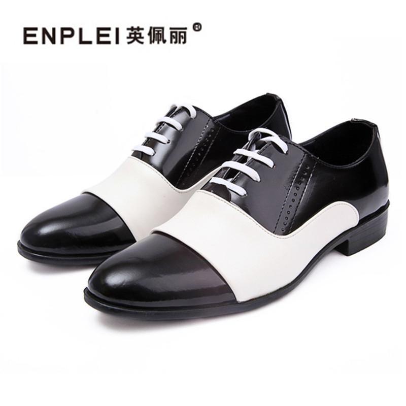 b18328a188c Compre Enplei Primavera Otoño Moda Hombre Zapatos Charol Hombres Vestido Zapatos  Blanco Negro Hombre De Cuero Suave Boda Oxford 37 43 A  42.12 Del Dryduck  ...