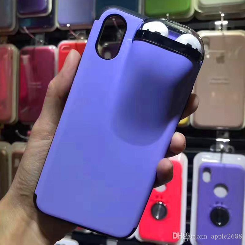 New Phone Case Unified Protection for Airpod & Cellphone Designer Anti-lost Back Cover for iPhone 11 pro Max X XR Xs max 7 8 plus 6 6s 6plus