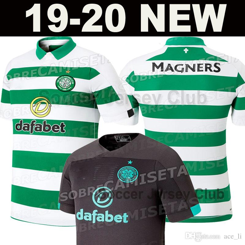 classic fit d1720 26cfd New 2019 2020 Celtic soccer jerseys 19 20 home TIERNEY MCGREGOR BENKOVIC  WEAH BURKE EDOUARD CHRISTIE GRIFFITHS away black football shirts