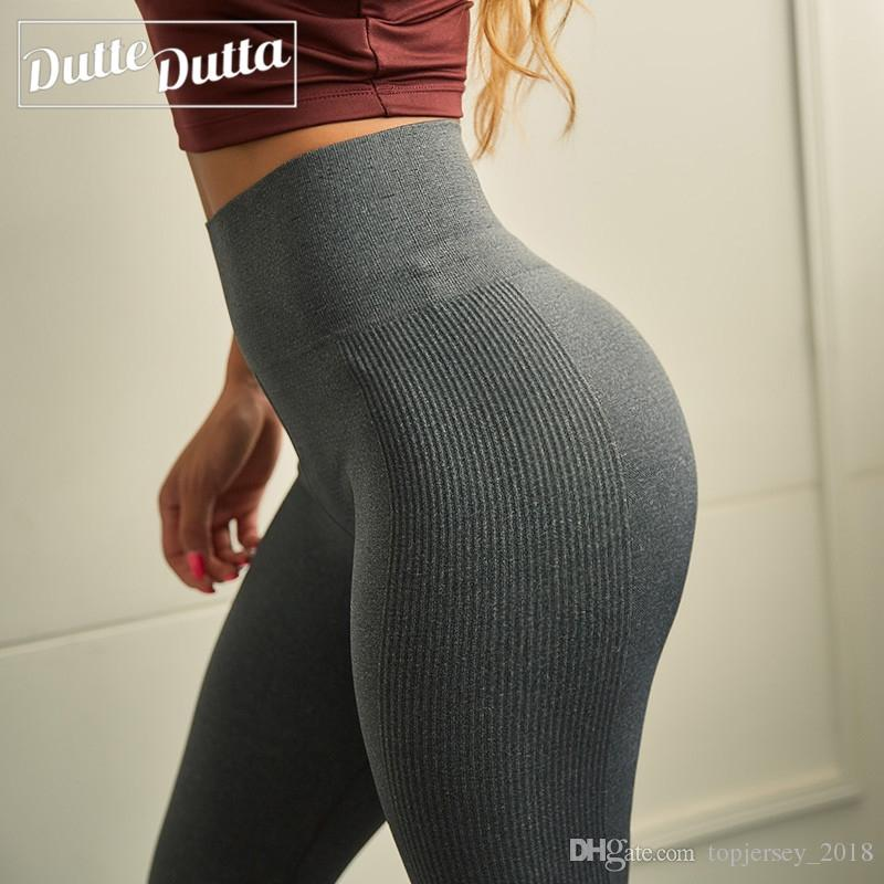 6112fee04b6e7 2019 High Compression Yoga Leggings Fitness Gym Yoga Pants Butt Push Up  Workout Sport Pants Tummy Control Running Tights Sport Wear #262286 From ...