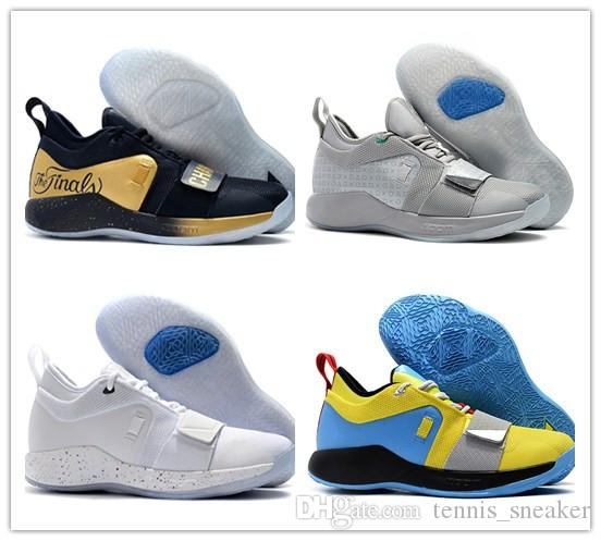 classic fit 2a8ca 81b21 Paul George 2.5 Wolf Grey Mens Casual Shoes PlayStation x PG Optic Yellow  Champion Black Men Desigenr Sneakers With Box Size 40-46