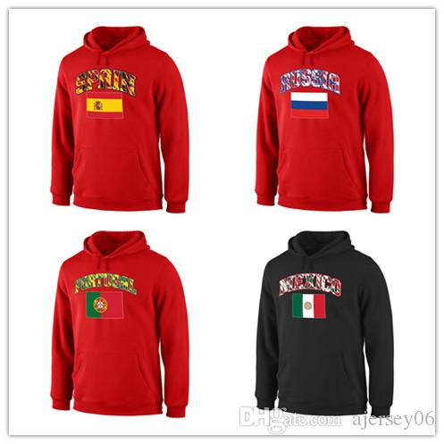 46eb7bf2e3b08 2019 2018 Italy Jamaica Mexico Russia Spain Branded True Colors Pullover  Hoodie From Ajersey06