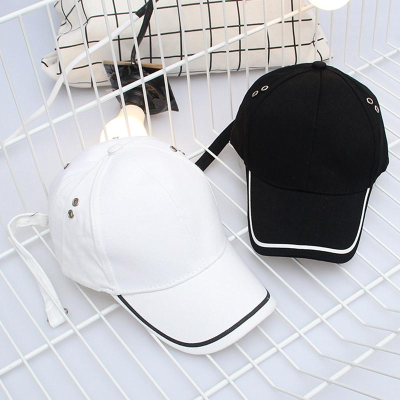 09ea8437ddb New Design Korean Fashion Style Strap Long Curved Brim Baseball Cap ...