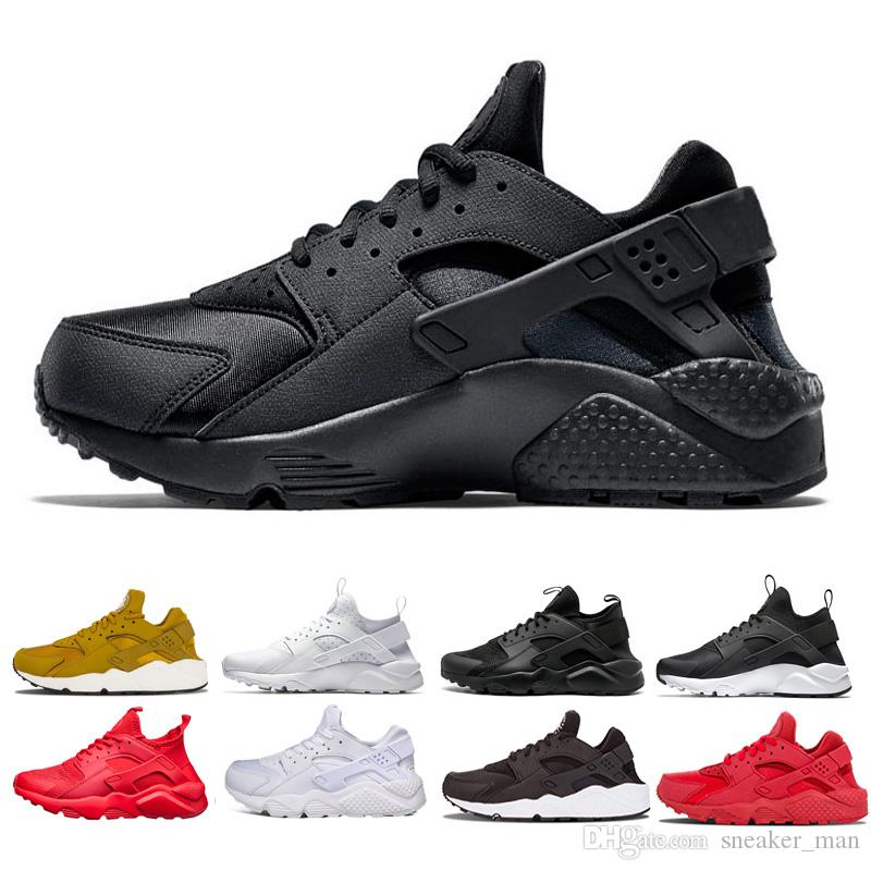 5f35fc2361f65 Cheap Direct Selling Huarache Running Shoes Mens Designer Trainers Sneakers  Classical Triple White Black Red Light Women Sports Shoes 5.5-11