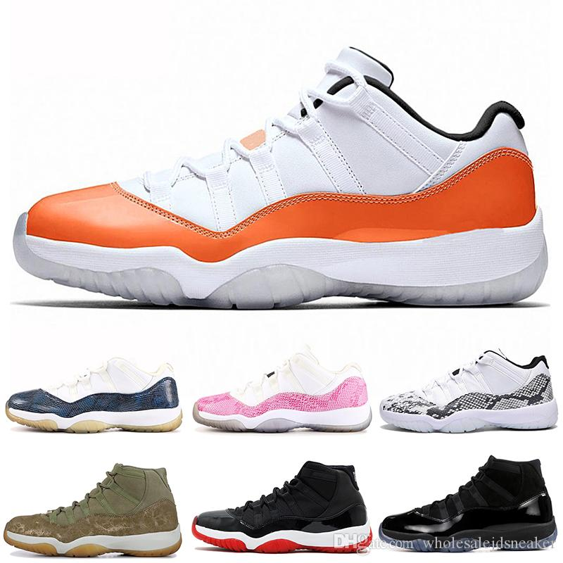 d270f825062 Snakeskin 11 11s Basketball Shoes Mens Women Concord Cap And Gown Orange  Trance Platinum Tint Legend Blue Gamma Blue Sport Sneakers 5.5 13 Walking  Shoes ...