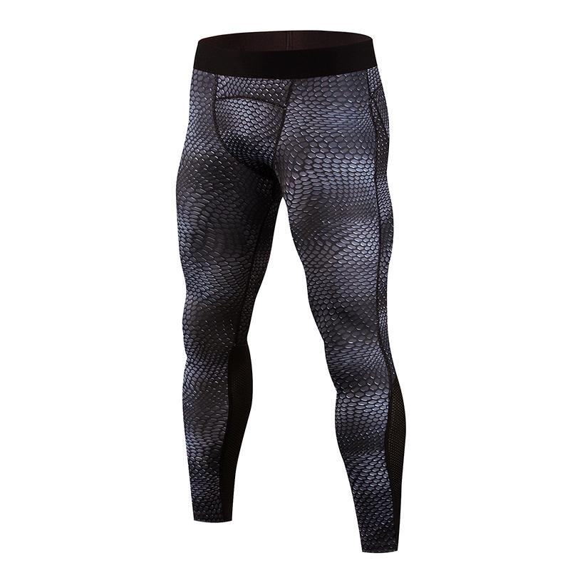 Compression pants mens jogger gym leggings men sports running tights Snake skin print fitness elastic marathon quickdry trousers