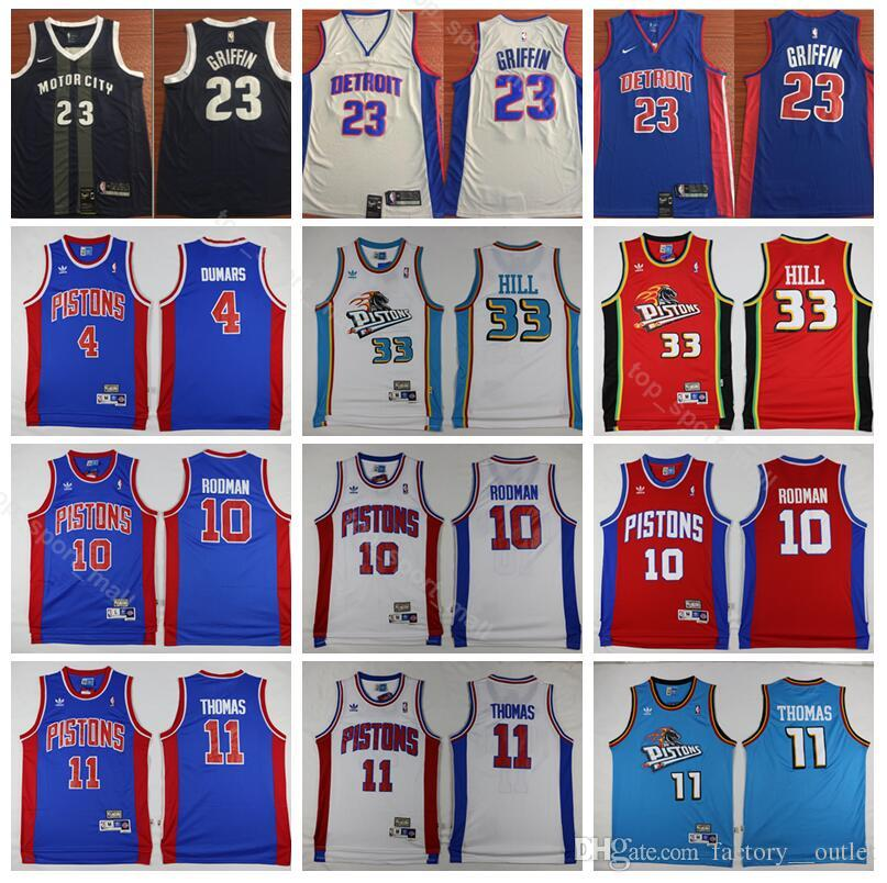 2019 Detroit Basketball Pistons 23 Blake Griffin Jersey Men City Edition  Isiah 11 Thomas Dennis 10 Rodman 4 Joe Dumars 33 Grant Hill From  Top sport mall 774ea35d8