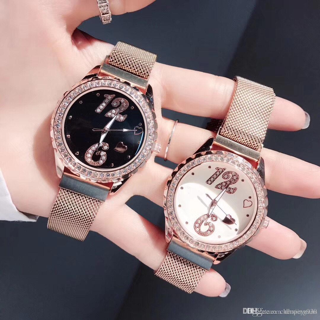 df59a769392 Compre Famoso Logotipo Assista Senhoras Requintado Diamante Dial Mulheres  Vestido De Quartzo De Diamante Relógio De Pulso Milan Watchband 36mm De  Dhxieyuans ...