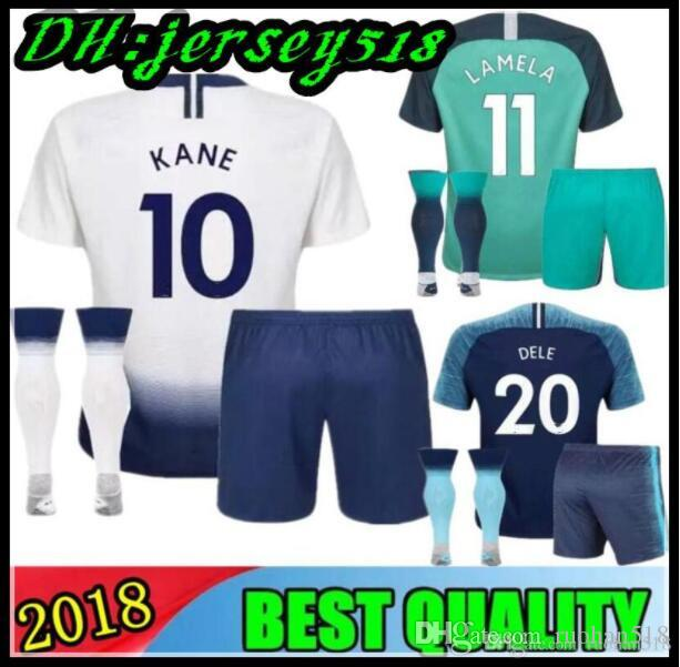 34406cd3f 2019 18 19 KANE Spurs Kids Soccer Jersey 2018 2019 Soccer Jerseys LAMELA  ERIKSEN DELE SON Away Blue Lamela Child Football Shirt From Ruohan518