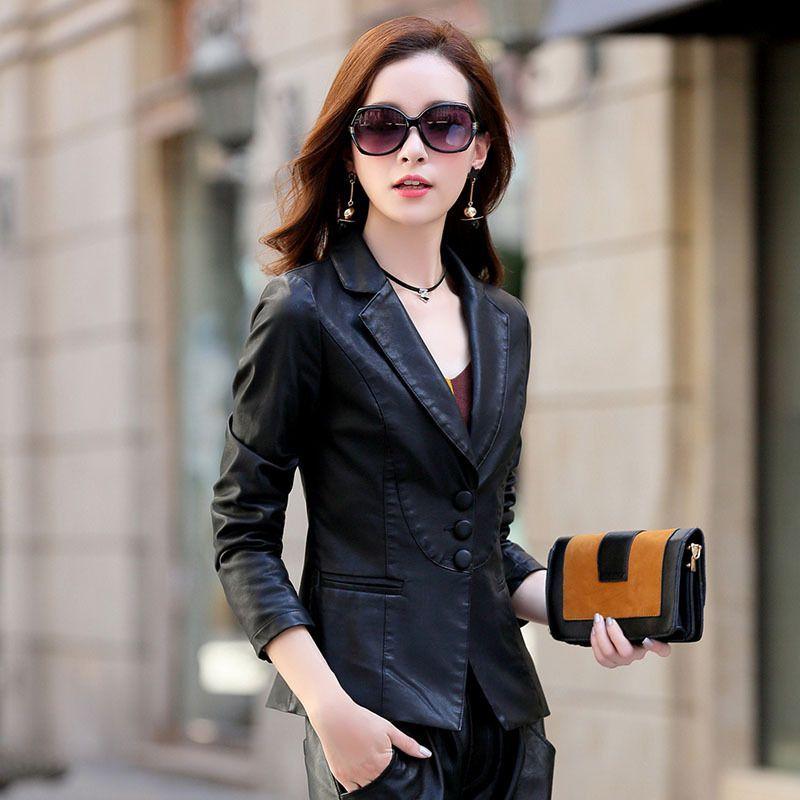 afec8db143b Spring Winter Season Style Clothes Woman Short Coat Show Thin Lapel ...